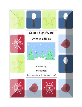 Color a Sight Word Winter Edition