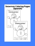 Color a Snowman in Spanish {Frebbie}