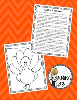 Color a Turkey (Following Directions)