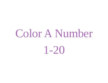 Color a number