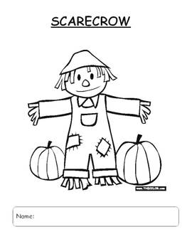 Color a rhyme scarecrow