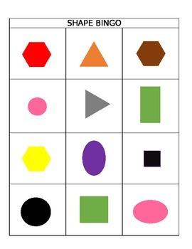 Color and 2d Shape Bingo