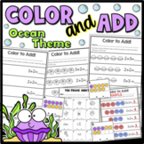 Color and Add {Addition Worksheets}