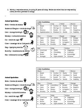 Color and Animal Symbolism Homework Assignment