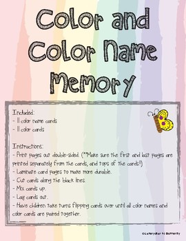 Color and Color Name Memory