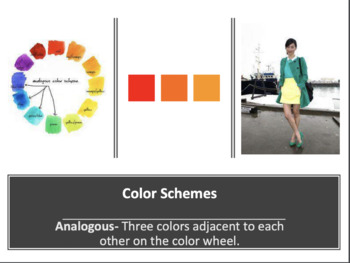 Color and Color Schemes Vocabulary and Examples with Fashion