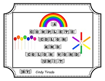 Color and Color Word Unit for Pre-k, TK, Kindergarten, and