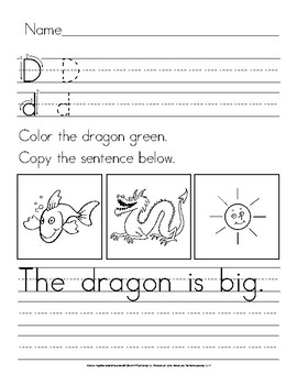 Color and Color Words: Manuscript Handwriting Practice