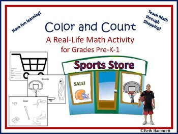 Color and Count: A Real Life Math Activity using Sports Shopping