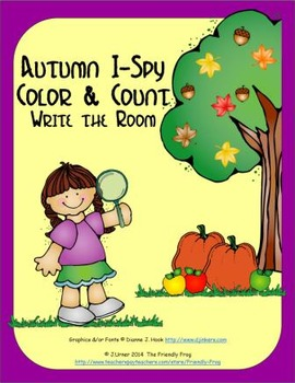 Color and Count I-Spy Write-the-Room Autumn