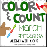 Color and Count March Cardinality Printables