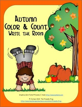 Color and Count Write-the-Room Autumn
