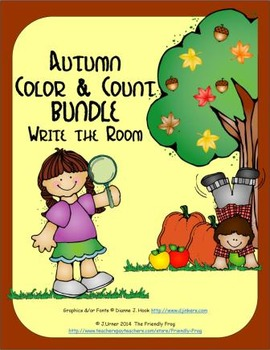 Color and Count Write-the-Room Autumn BUNDLE