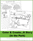 Color and Create a Story (In the Park Theme) NO PREP