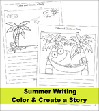 Color and Create a Story (Summer - Beach Theme) NO PREP