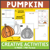 Color and Draw: Pumpkin Theme