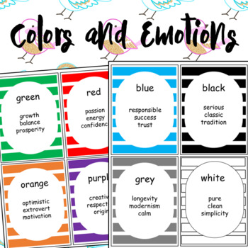 Color and Emotions Worksheets and Flashcards