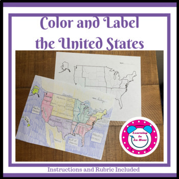 Color and Label the United States