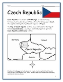 CZECH REPUBLIC - printable handouts with map and flag to color