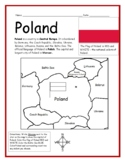 POLAND - Printable handouts with map and flag to color