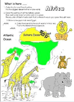 Color and Name the Continents and Countries