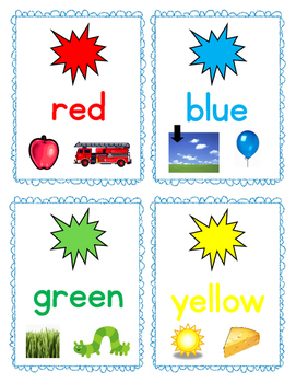 Color and Number Flash Cards