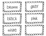 Color and Number Flashcards