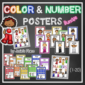 Color and Number Posters  Bundle and Save!