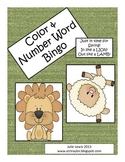 Color and Number Word Bingo