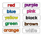 Color and Number Word Cards