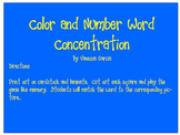 Color and Number Word Concentration