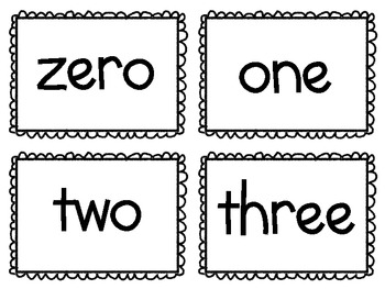 Color and Number Word Flash Cards