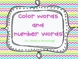 Color and Number Word Unit