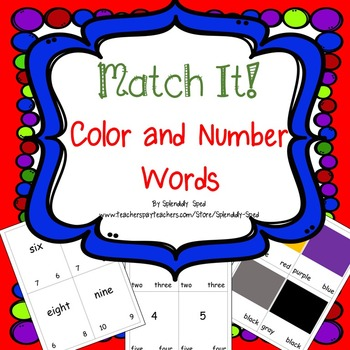 Color and Number Words