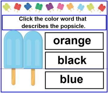 Color and Number Words for Primary Students SMARTBOARD