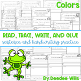 Color and Number Words: Sentence Writing