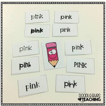 Color and Number Words Sorting Activity