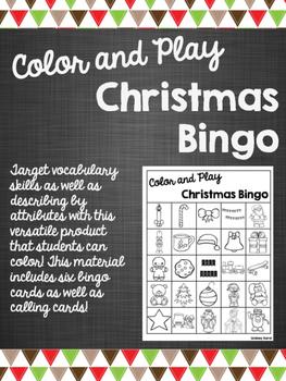 Color and Play Christmas Bingo