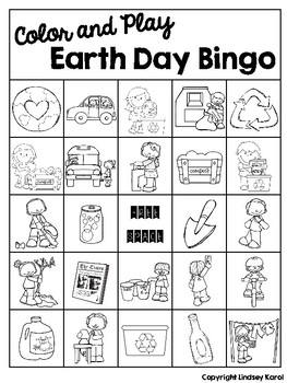 Color and Play Earth Day Bingo