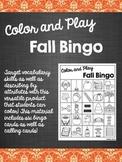 Color and Play Fall Bingo