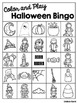 Color and Play Halloween Bingo