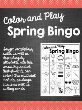 Color and Play Spring Bingo