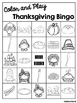 Color and Play Thanksgiving Bingo