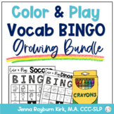 Color and Play Vocabulary BINGO Growing Bundle