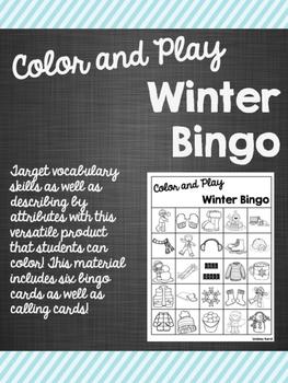 Color and Play Winter Bingo