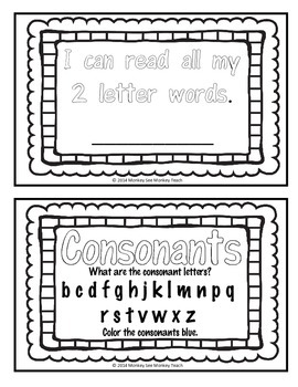 High Frequency Words Color and Read   (2 letters)