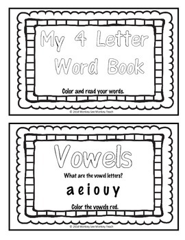 High Frequency Words Color and Read  (4 letters)