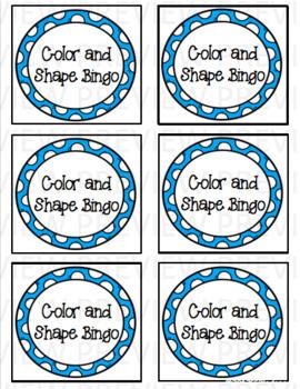 Color and Shape Bingo