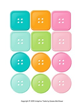 Color and Shape Button Matching Tasks