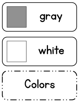 Color and Shape Cards (English Only)
